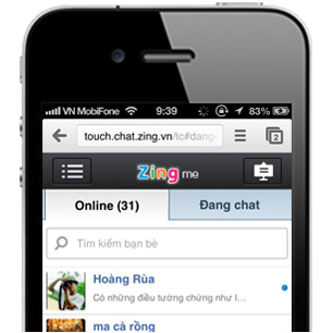 Touch touch.chat.zing.vn